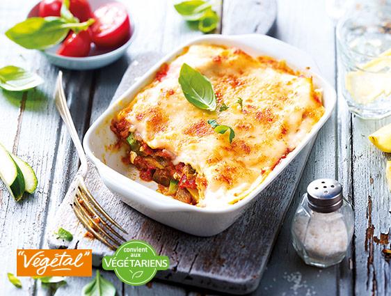 Plats cuisinés - Lasagnes aux légumes grillés et au chèvre