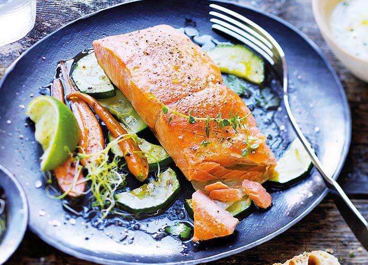 4 Pavés de saumon argenté du Pacifique avec peau