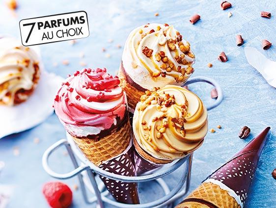 Glaces et desserts glacés - Cornets Exalto Saveur crème brûlée
