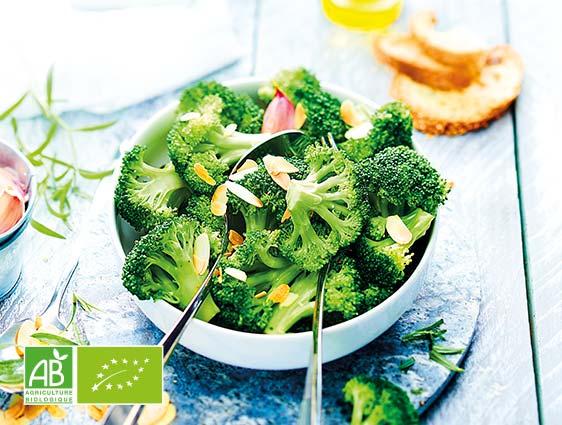 Légumes bruts biologiques - Brocolis en fleurettes biologiques