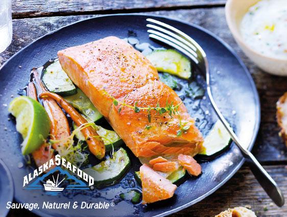 Poissons et crustacés - Pavés de saumon argenté du Pacifique