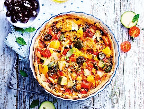 Végétarien - Tarte aux légumes du soleil