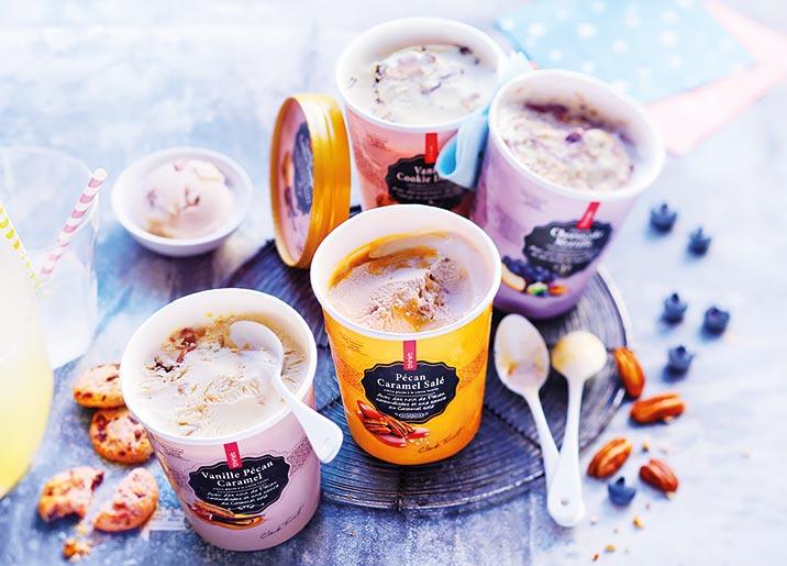 Pot Crème Glacée Vanille Pécan Caramel