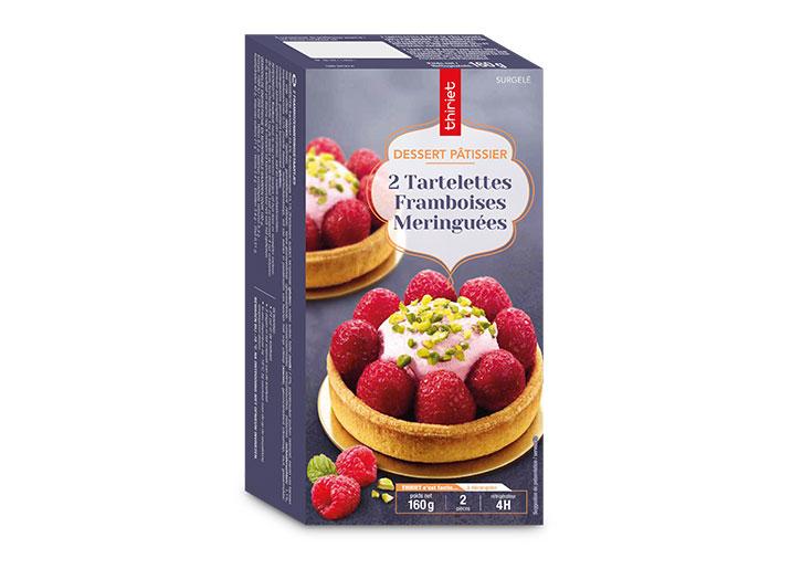 2 Tartelettes framboises meringuées