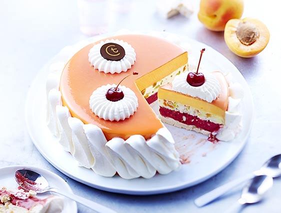 Desserts glacés à partager - Vacherin nougat-griotte-abricot