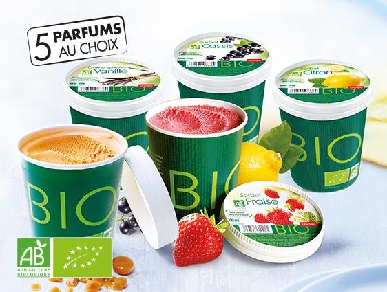 Desserts glacés - Pots biologiques