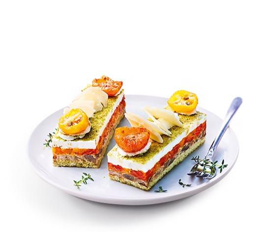 2 Opéras légumes du soleil et fromage de chèvre