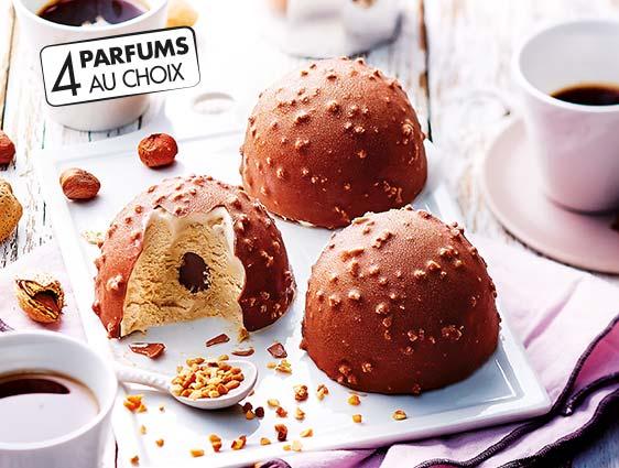 Desserts glacés individuels - Exquis Façon rocher
