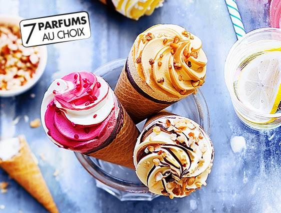 Cornets glacés - Cornets Exalto : la 3ème boite offerte !