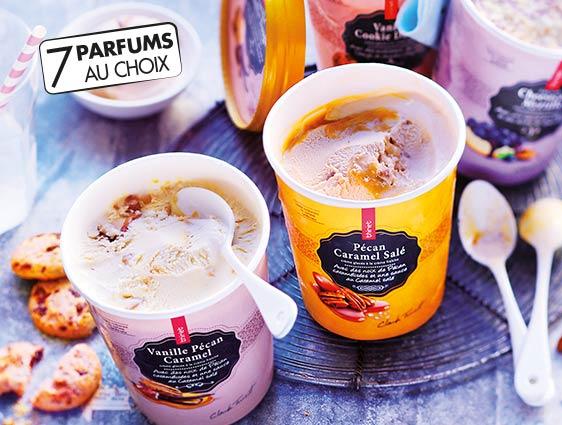 Glaces - Desserts glacés - Pot Crème Glacée Banane Caramel salé