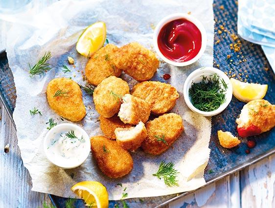 Poissons panés - Nuggets de colin d'alaska et mozzarella