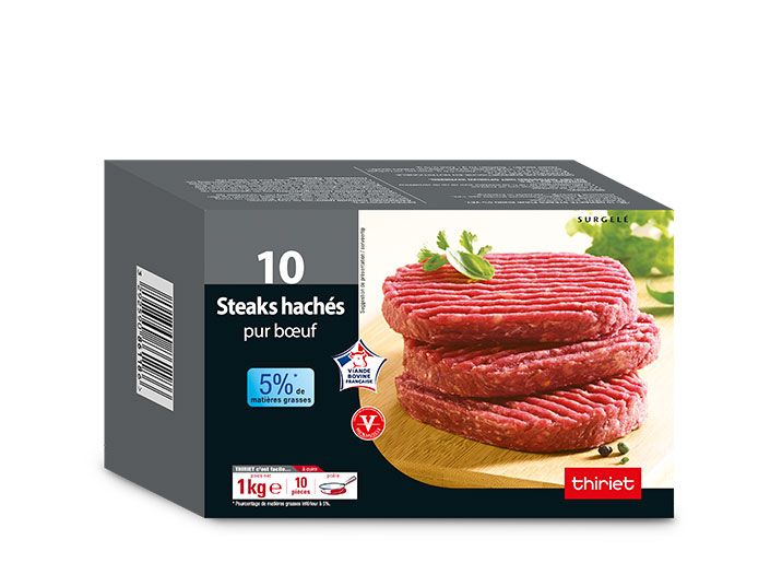 10 Steaks hachés pur boeuf 5% M.G.