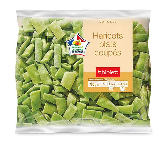 Haricots plats coupés