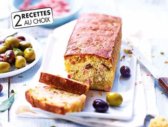 Cake apéritif jambon et olives
