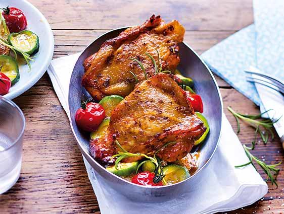 Volailles - Hauts de cuisse de poulet marinés basilic romarin