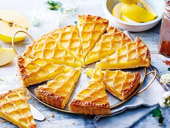 Pâtisseries à partager - Tarte aux pommes découpée