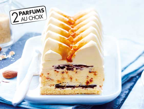 Desserts glacés à partager - Delissimo saveur crème brûlée