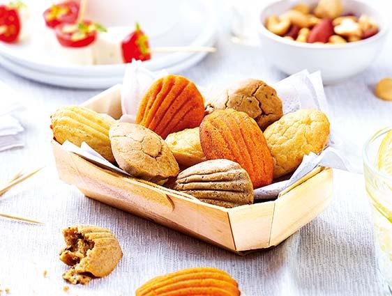 Bouchées apéritives - Mini madeleines apéritives