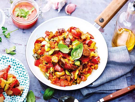 Légumes cuisinés - Poêlée cuisinée de légumes grillés