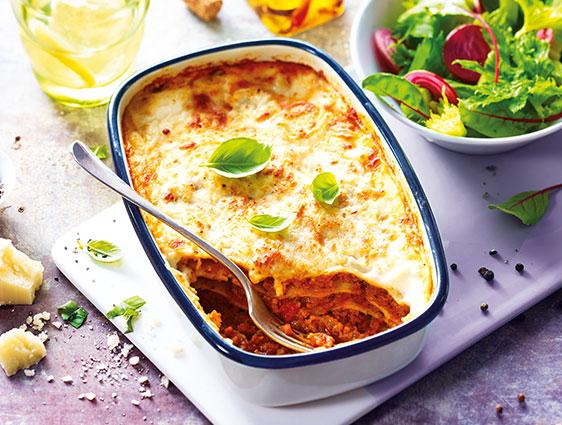 Plats cuisinés à partager - Lasagnes à la bolognaise