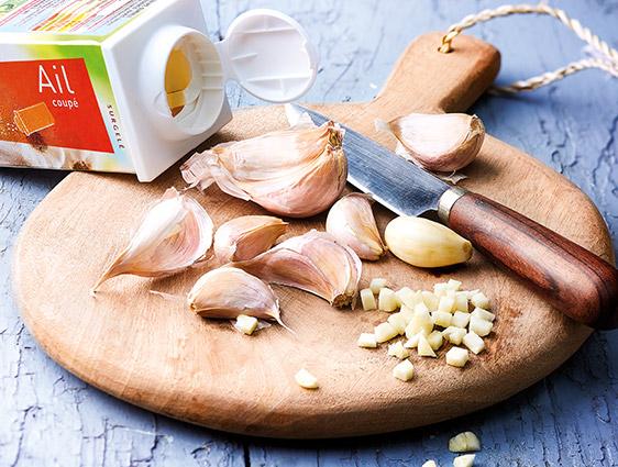 Aides culinaires Thiriet en promotion - Ail coupé