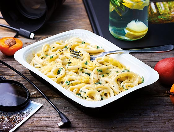 Plats cuisinés individuels - Linguines aux 4 fromages