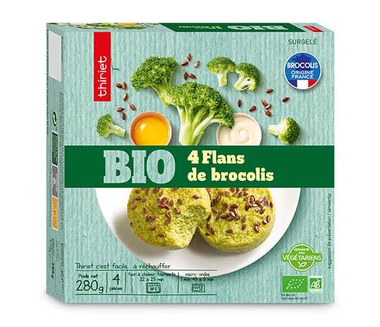 4 Flans de brocolis biologiques