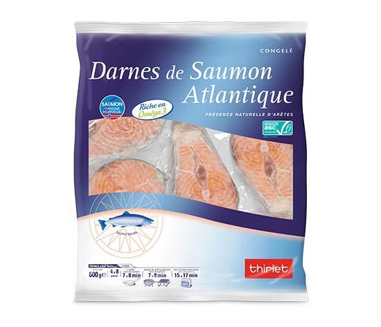 Darnes de saumon Atlantique avec peau