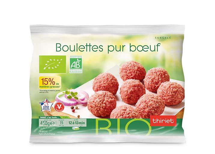 Boulettes biologiques pur bœuf 15% MG