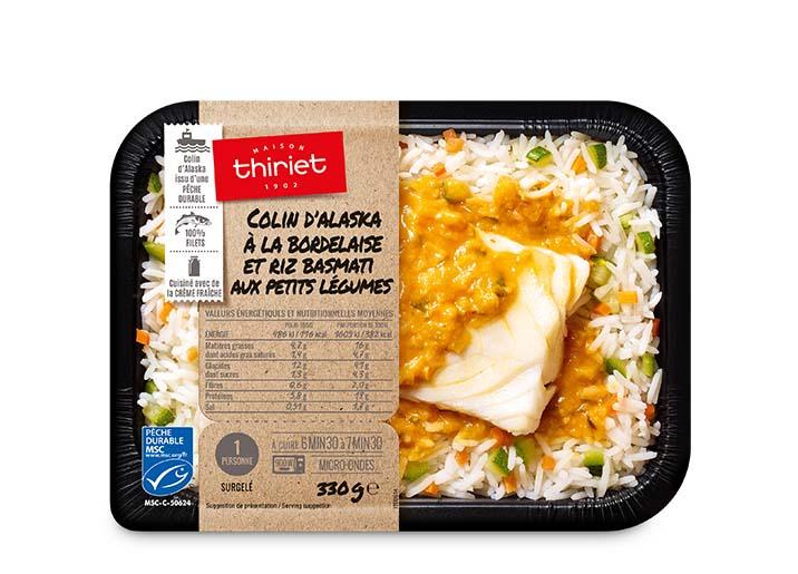 Colin d'Alaska à la bordelaise et riz basmati