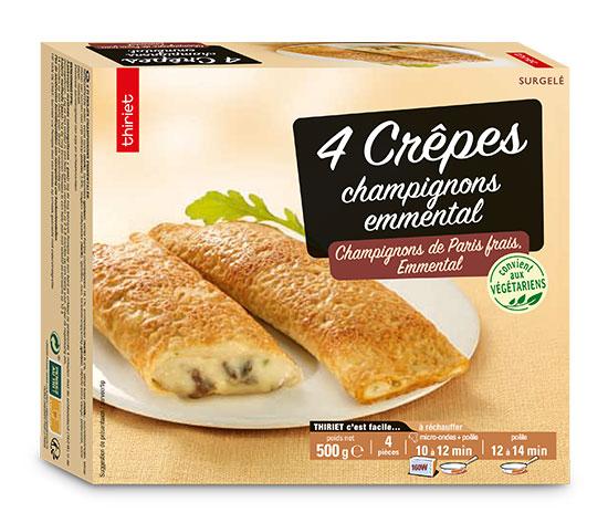 8 Crêpes champignons/emmental
