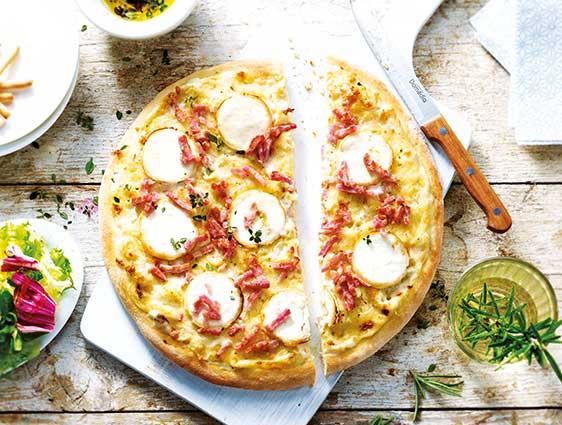 Entrées - Pizza chèvre lardons