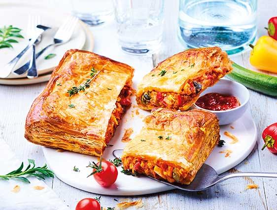 Entrées - Feuilleté légumes du soleil/mozzarella