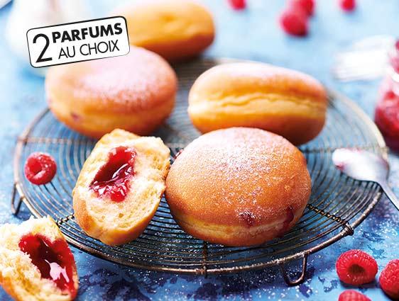 Beignets et donuts - Beignets fourrés framboise