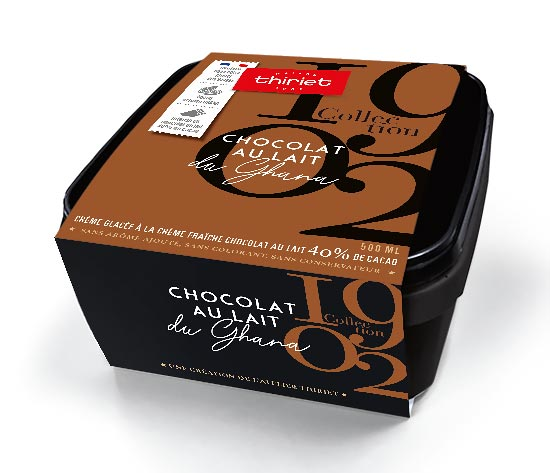 Crème glacée Chocolat au Lait du Ghana 40% cacao