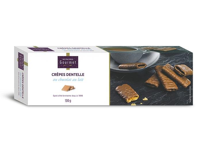Crêpes dentelle au chocolat