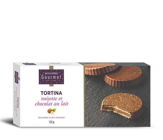Tortina noisette et chocolat au lait