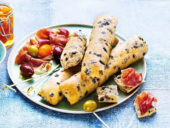 Petits pains - Quatre Ficelines aux olives