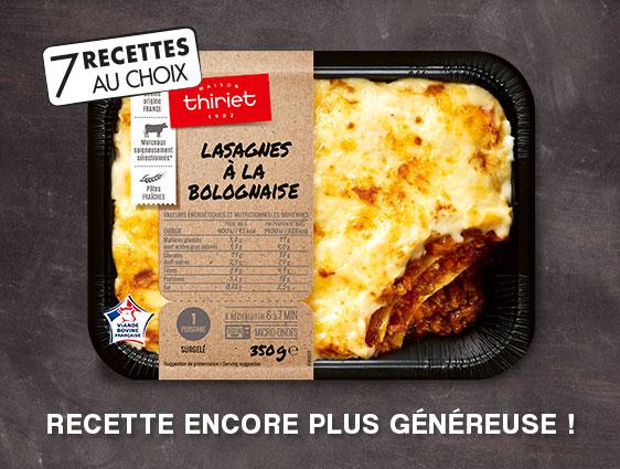Plat cuisiné - Nouveaux plats cuisinés plus généreux !