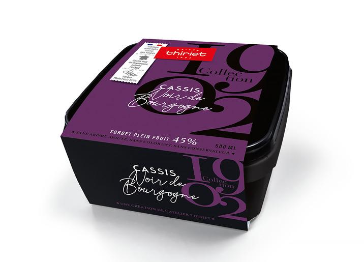 Sorbet Cassis Noir de Bourgogne - France