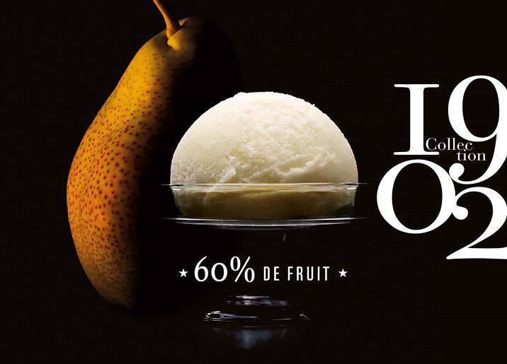 Sorbet Plein Fruit Poire Vallée du Rhône Collection 1902