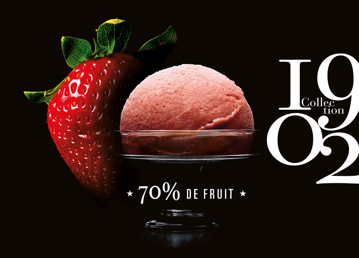 Sorbet Plein Fruit Fraise de Dordogne Collection 1902