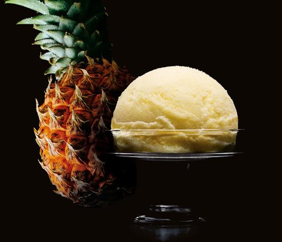Sorbet Ananas Victoria de l'Ile de la Réunion