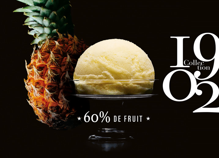 Sorbet Plein Fruit Ananas Ile de la Réunion Collection 1902