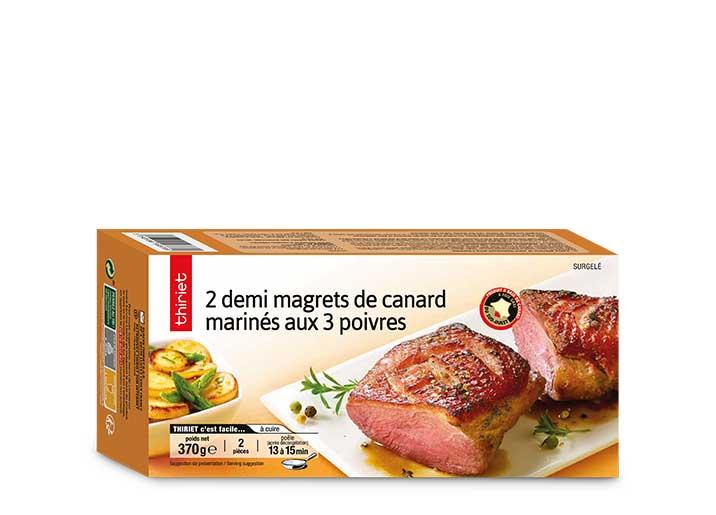 2 Demi magrets de canard marinés aux 3 poivres