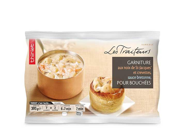 Garniture Saint-Jacques et crevettes pour bouchées