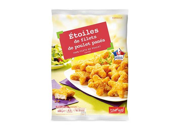 Etoiles de filets de poulet panés