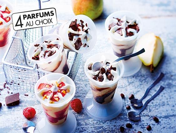Desserts glacés individuels - Chocolats liegeois
