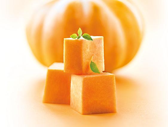Légumes bruts - Potiron en cubes