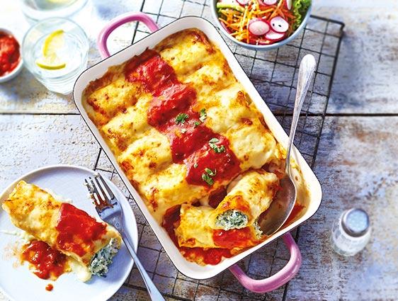 Plats cuisinés à partager - Cannelloni ricotta épinards